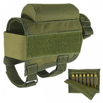 HONEST Tactical Crown Cheek Rest with Carrier Carrying Case Ammunition for. 300. 308 Winmag - Green