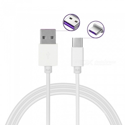 1m 5A Quick Charge USB 3.1 Type-C Charging Data Cable for Huawei Mate 9 / Pro / P9 / P9 Plus /P10 / P10 Plus / OnePlus 3T / 5T