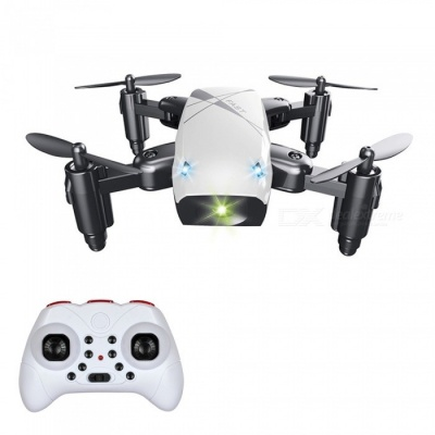 S9 RC Helicopter, 2.4G 4 Channel 6-Axis Gyro Mini Foldable Pocket Drone Quadcopter / Remote Control Toy - White