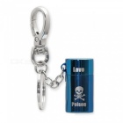 HONEST Outdoor Mini Stylish Gas Lighter Gift with Key Chain - Blue