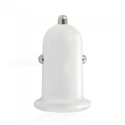 5V 3.1A Quick Charge Dual USB Car Charger Adapter - White