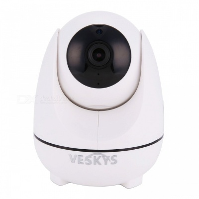 VESKYS 1080P 2.0MP HD Smart Wi-Fi IP Camera with Intelligent Cruise for Auto Tracking Moving Objects - US Plug