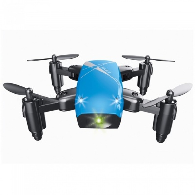 S9 RC Helicopter, 2.4G 4 Channel 6-Axis Gyro Mini Foldable Pocket Drone Quadcopter / Remote Control Toy - Blue