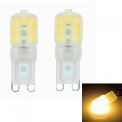 Sencart G9 3W 14x2835 SMD Warm White LED Dimmable Light with Cream ABS Cover, AC110-130V (2 PCS)