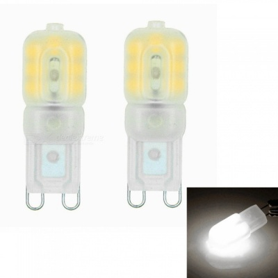 Sencart G9 3W 14x2835 SMD Natural White LED Dimmable Light with Cream ABS Cover, AC220-240V (2 PCS)