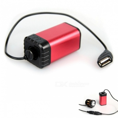 ZHISHUNJIA USB Back-up AA / 14500 Batteries Power Box - Red + Black
