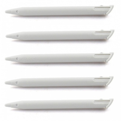 Kitbon Plastic Replacement Touch Screen Stylus Pens Only for Nintendo 2DS XL / 2DS LL - White (5 PCS)
