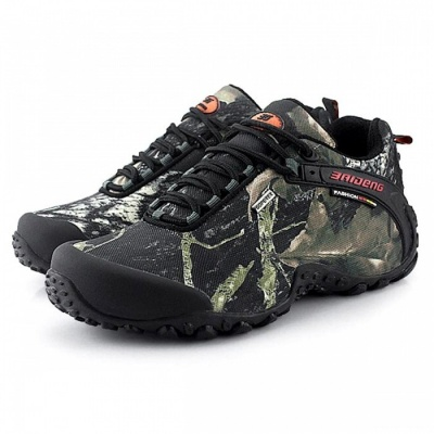 CTSmart 8068 Multifunctional Outdoor Camouflage Men's Low Hiking Shoes - Gray (45)