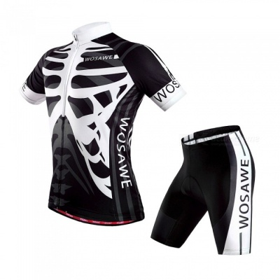 Summer Cycling Clothing Suits Cyclist Breathable Bicycle Clothes Set GEL Pad Mountain Bike Shorts Shirts Riding Clothes - M