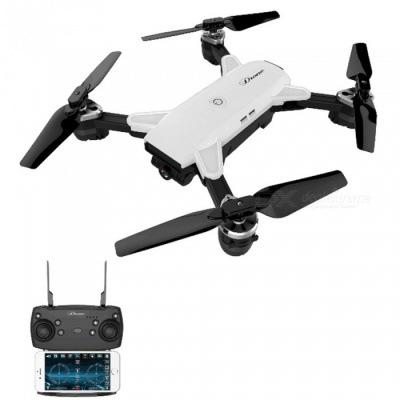 YH-19HW Wi-Fi FPV Foldable Selfie Mini RC Drone Helicopter Quadcopter with 0.3MP Camera - White