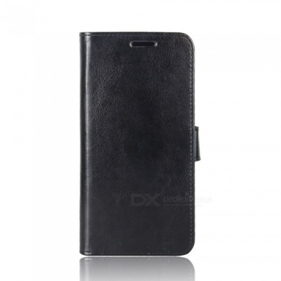 Protective PU Leather Case for IPHONE X - Black