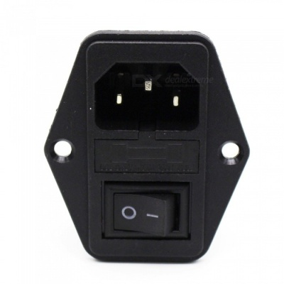 ZHAOYAO 5Pcs Mini 10A 220V / 110V Current Power Switch Button AC Parts for Makerbot Ultimaker - Black