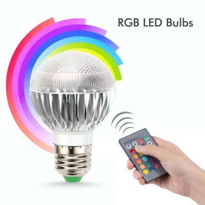 ZHAOYAO E27 5W RGB 85-265V 16-Color Changing Dimmable RGB LED Bulb for Home Decoration/Bar/Party/KTV