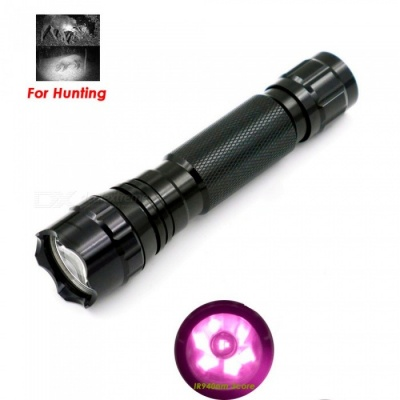 AIBBER TONE Night Vision Hunting Infrared IR Flashlight, 3-LED 940nm Waterproof Aluminium Rechargeable LED Torch