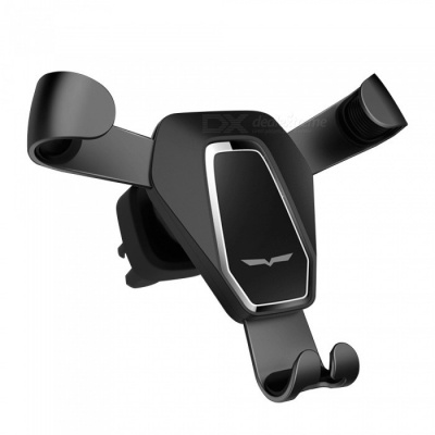 Luxury Iron Claw Shaped Gravity Car Phone Holder Metal Outlet Phone Stand Safe Triangle Bracket - Black