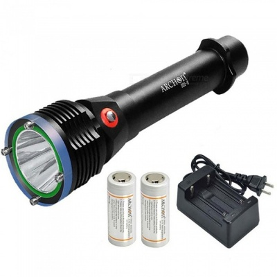 ARCHON D22-II D22 II CREE L2 U2 LED 1200LM 100m Underwater Diving Flashlight with Battery & Charger