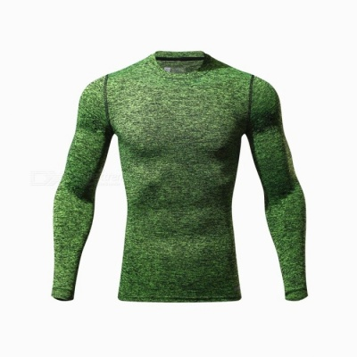 CTSmart L119 Summer New Tight-Fitting Fitness Long Sleeve Quick-Drying T-shirt - Green (XL)