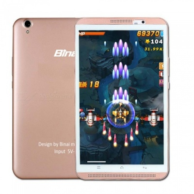 """Binai Mini8 HD 4G Android 6.0 8"""" Tablet PC with 2GB RAM, 16GB ROM - Rose Gold"""
