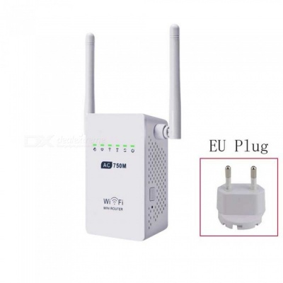 750Mbps Wireless Wi-Fi Router Repeater Adapter - White (EU Plug)
