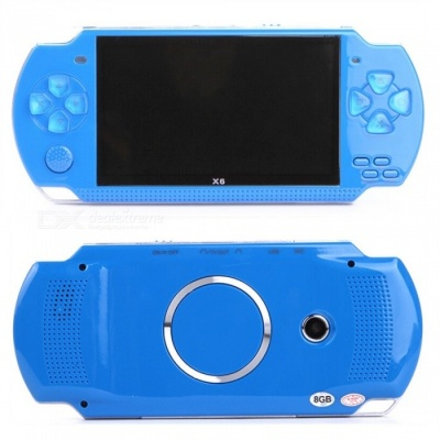 4.3 Inches 8GB Handheld Game Console Support 1000 Classic Games - Blue