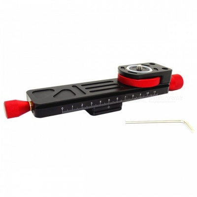 W-160 Macro Focusing Rail, Compatible with Arca-Swiss - Black + Red