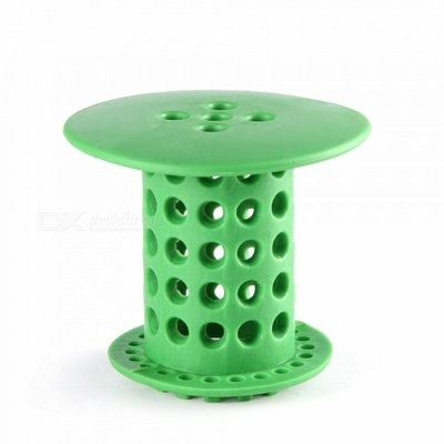 Bathroom Sink Drain Protector Hair Catcher Strainer Filter - Green