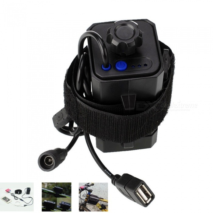 AIBBER TONE DC & USB Plug 4x18650 Waterproof Battery Pack Box Case House Cover for Bicycle Light Headlight
