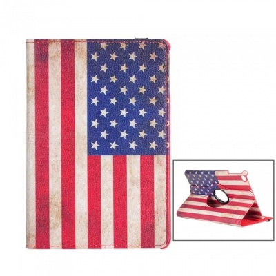 Dayspirit Protective PU Leather US Flag Stykle Cover Case for IPAD MINI 4 - Multicolor