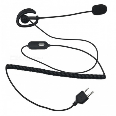 APRIL Tactical Earphone Headset for MIDLAND GXT400 GXT450 GXT500, GXT550 - Black