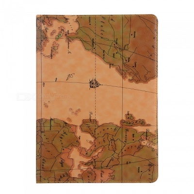 Dayspirit Protective PU World Map Cover for IPAD Air, Air2, 9.7 (2017)  - Multicolor