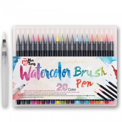 ZHAOYAO 20-Piece Premium Flexible Watercolor Pencils Set for Children, Adult