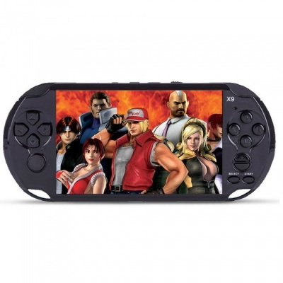 Handheld 8GB 5 Inches Pocket Player Game Console with 350 Classic Games, 0.3MP Camera - Black