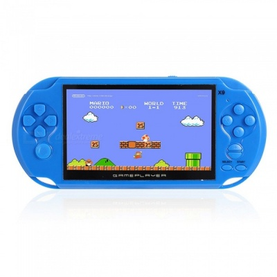 Handheld 8GB 5 Inches Pocket Player Game Console with 350 Classic Games, 0.3MP Camera - Blue