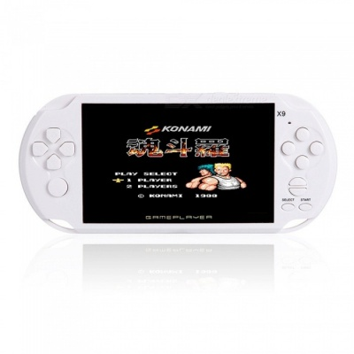 Handheld 8GB 5 Inches Pocket Player Game Console with 350 Classic Games, 0.3MP Camera - White