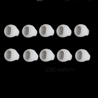 10pcs Silicone Ear Buds Covers for In-Ear Earphones - White