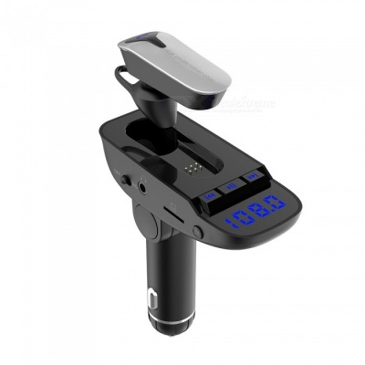 New Bluetooth FM Transmitter Modulator Car Kit with Headset, MP3 Player, Phone Charger