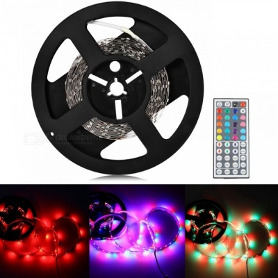 Sencart  5M RGB 5630 SMD 300-LED Flexible Strip Light Lamp 12V + 44-Key IR Controller