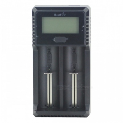 BestFire C-2A Stylish LCD Microcomputer Smart Cylindrical Lithium Battery Charger