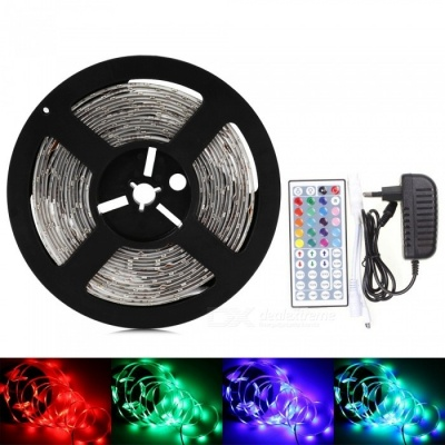 Sencart 5M 5630 RGB 300LED Waterproof Strip Light Flexible Tape 44-Key Remote EU Power Supply