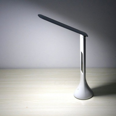 Creative Eye-Protective Foldable USB Rechargeable Desktop Table LED Lamp, Reading Light with Display