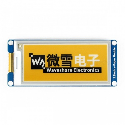 Waveshare 296x128 2.9 Inches E-Ink Display Module, Yellow / Black / White Three-Color
