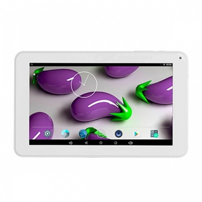 Quad-Core 9-Inch LCD Display Android Tablet PC with 1GB RAM, 8GB ROM - White