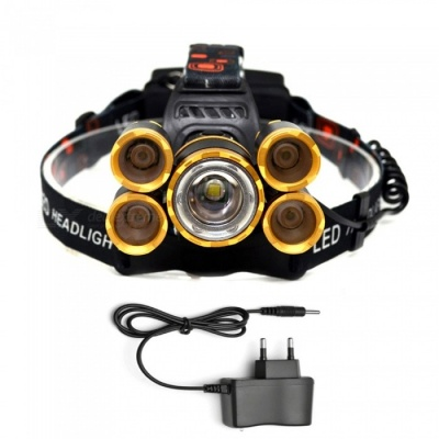 AIBBER TONE Outdoor T6 + XPE 16000lm 5-LED Headlight Headlamp with Charger