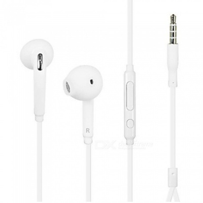 Stylish In-Ear Headphones Headset Earphones for Samsung, PC, Cell Phones - White