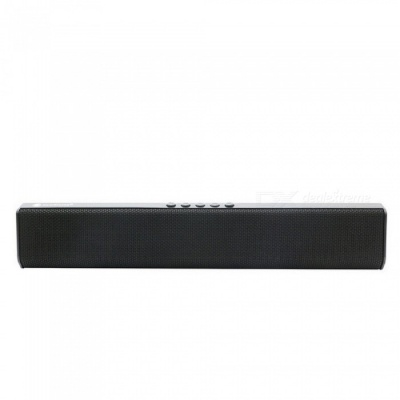 JEDX NR1500 Bluetooth Speaker, Support U Disk / TF Card / Aux-in / FM for IPHONE Samsung Huawei Etc - Black