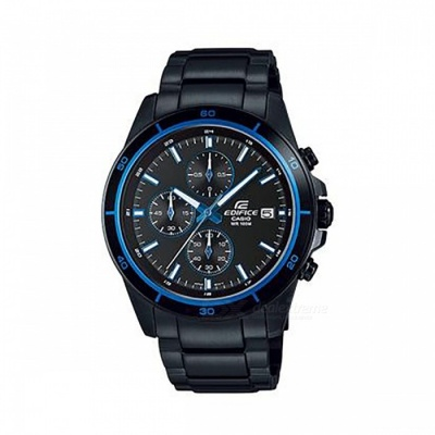 Casio Edifice Chronogtaph EFR-526BK-1A2 Men's Watch - Black + Blue