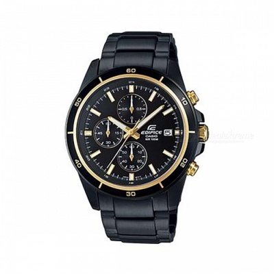 Casio Edifice Chronogtaph EFR-526BK-1A9 Men's Watch - Black + Gold