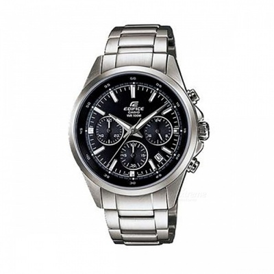 Casio Edifice EFR-527D-1A Standard Chronograph Watch - Silver + Black