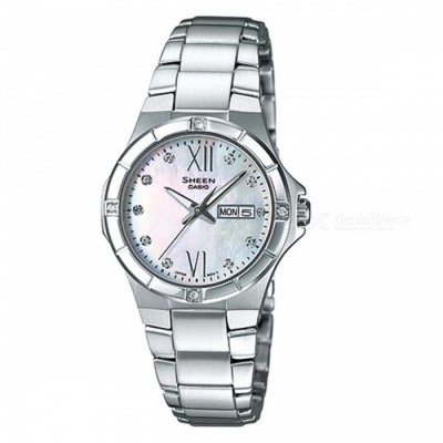 Casio SHE-4022D-7A 3-Hand Analog Watch -  Silver