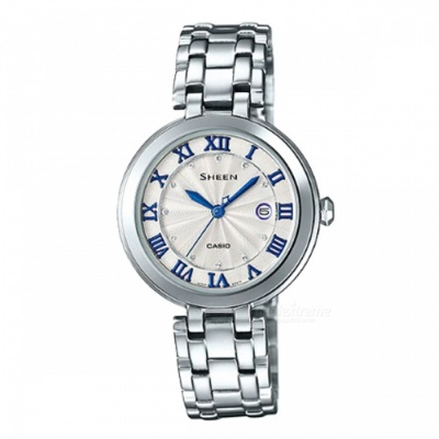 Casio SHE-4033D-7A 3-Hand Analog Watch - Silver